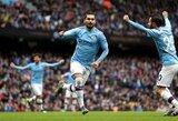 """""""Manchester City"""" antrajame kėlinyje susitvarkė su """"Aston Villa"""", bet dar labiau pablogino savo situaciją"""