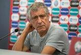 """Portugalijos futbolo rinktinės strategas F.Santosas: """"Dėl nieko nesijaudiname, atvažiavome laimėti"""""""