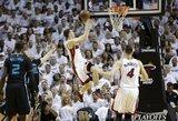 """G.Dragičius padėjo """"Heat"""" įspūdingai sutriuškinti """"Hornets"""" ir patekti į konferencijos pusfinalį"""