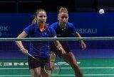 Lietuvos moterų badmintono rinktinė galingai pradėjo Europos čempionatą