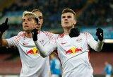 """Vokietijoje """"RB Leipzig"""" sutriuškino """"Wolfsburg"""""""