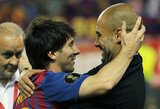 """J.Guardiola prisiminė pažintį su L.Messi: """"Jis buvo mažas ir drovus"""""""