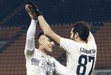 """Italijos taurė: """"Inter"""" sutriuškino """"Benevento"""" futbolininkus"""