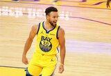 S.Curry pelnė 62 taškus ir pagerino karjeros taškų rekordą
