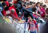 """Ispanijos lyderių akistatoje – """"Atletico"""" pergalė"""