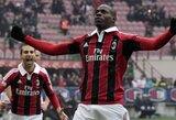 """Italijoje - nesustabdomojo M.Balotelli vedamas """"Milan"""" toliau skina pergales"""