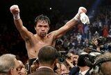 M.Pacquiao baigia derybas dėl kovos su dabartiniu pasaulio čempionu