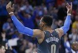 Titaniškoje gynėjų dvikovoje – beveik pusšimtis R.Westbrooko taškų