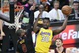 """""""Lakers"""" ir """"Mavericks"""" klubai kalbėjosi dėl aukštaūgių mainų"""