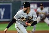 """D.Neverauskas MLB rungtynėse nepraleido taškų, o """"Pirates"""" pralaimėjo minimaliu skirtumu"""