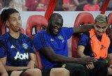 """""""Manchester United"""" ketina nubausti treniruotėse nesilankantį R.Lukaku"""
