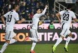 """Po keitimo aikštėje pasirodęs C.Ronaldo išplėšė """"Juventus"""" klubui lygiąsias"""