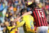 """""""AC Milan"""" nesugebėjo įveikti lygos autsaiderių"""