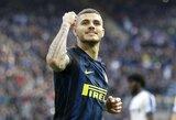 """Pagaliau sugrįžęs M.Icardi pasižymėjo įvarčiu, o """"Inter"""" sutriuškino varžovus"""