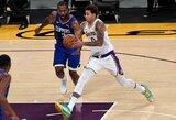 """""""Lakers"""" pasirengimą pradėjo pergale Los Andželo derbyje"""