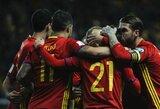 Ispanija ir Italija tęsia kovą dėl pirmos vietos atrankinėje grupėje