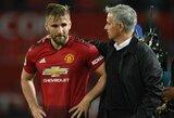 """J.Mourinho paaiškino, kodėl """"Manchester United"""" pratęsė kontraktą su L.Shaw"""
