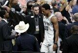 """NBA nubaudė """"Spurs"""" komandos žvaigždę"""