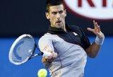 """Čempiono titulą ginantis N.Djokovičius nesunkiai pateko į antrąjį """"Australian Open"""" ratą (+ kiti rezultatai)"""