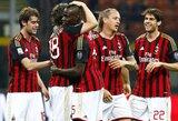 """Italijoje užfiksuota sezono rekordinė """"Milan"""" pergalių serija"""