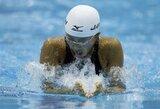 R.Meilutytė Monake laimėjo ir 50 m plaukimo krūtine rungtį bei vėl pagerino Lietuvos rekordą