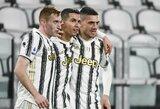"""C.Ronaldo pelnė dublį, o """"Juventus"""" iškovojo triuškinamą pergalę"""