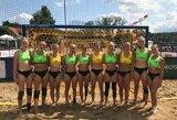 Lietuvos merginų paplūdimio rankinio rinktinė pateko tarp 8 stipriausių Europos komandų