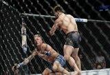 Pamatykite: UFC čempionų super kova baigėsi nokautu per 32 sekundes