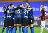 """Ch.Eriksenas 97-ąją minutę baudos smūgiu išplėšė """"Inter"""" pergalę prieš """"AC Milan"""" ir bilietą į Italijos futbolo taurės pusfinalį"""