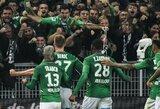 """""""Saint-Etienne"""" 90-ąją minutę išplėšė pergalę prieš """"Lyon"""""""