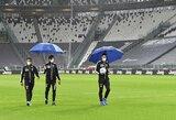 """""""Juventus"""" ir teisėjai pasirodė aikštelėje, nors """"Napoli"""" nebuvo leista atvykti į Turiną"""