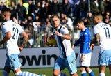 """""""Lazio"""" 91-ąją minutę išplėšė pergalę prieš """"Serie A"""" lygos autsaiderius"""
