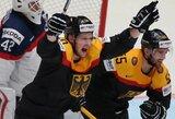Slovakijos ledo ritulininkai pasaulio čempionate patyrė pirmą nesėkmę, šveicarai nutraukė pralaimėjimų seriją