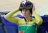 V.Šumskytė debiutavo pasaulio dviračių treko taurės etape