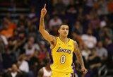 """Karjeros rungtynes sužaidęs K.Kuzma atvedė """"Lakers"""" į pergalę"""