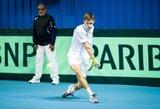 Vyrų teniso turnyre Turkijoje T.Babelį sustabdė trečiojo šimtuko žaidėjas