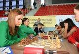 Lietuvos šachmatininkės olimpiadoje atsilaikė prieš galingą Kazachstano rinktinę