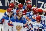 Pasaulio ledo ritulio čempionato A grupė: rusai ir norvegai iškovojo pirmąsias pergales, lydere tapo Švedija