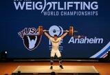 A.Šidiškis pasaulio sunkiosios atletikos čempionate aplenkė 10 varžovų, armėnas pagerino planetos rekordą