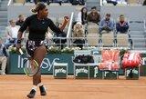"""Antrajame sete """"prabudusi"""" S.Williams iškovojo pergalę """"Roland Garros"""" turnyre, estė ir latvė startavo pergalingai"""