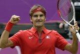 R.Federeris tik po 3 setų kovos pateko į antrąjį Olimpinio teniso turnyro ratą