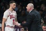 """Z.LaVine'as sumokėjo """"Bulls"""" treneriui skirtą baudą"""