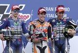 Pergalių seriją pratęsęs M.Marquezas Italijoje turėjo vargo iki paskutinio posūkio