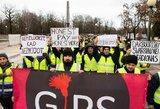 Algų negaunantys turkai Kaune surengė protesto eiseną