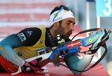 Pasaulio biatlono taurės sprinte – už persekiojimo lenktynių borto likę lietuviai ir netikėtai lėtas M.Fourcade'as