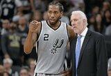 """""""Spurs"""" žaidėjai specialiame susitikime ragino K.Leonardą grįžti į aikštę"""