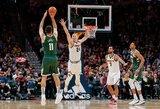 Europos žvaigždžių susidūrime NBA – G.Antetokounmpo pergalė ir centro aštuoni tritaškiai