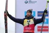 Pasaulio biatlono taurės etape Italijoje – M.Fourcade'o revanšas prieš J.T.Boe