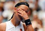 """V.Azarenka krito pirmajame """"Australian Open"""" rate, S.Williams ir teniso gražuolės startavo pergalingai"""
