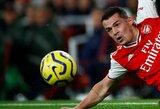 """""""Arsenal"""" kapitono raiščio netekęs G.Xhaka domisi galimybe rungtyniauti Vokietijoje"""